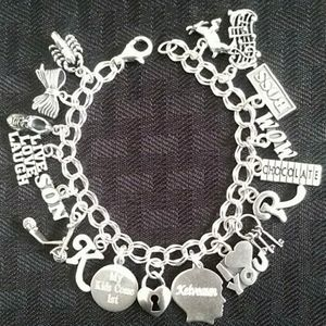 Personalized Charm Bracelet, 18 Charms(Soldered)